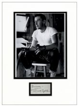 Mickey Spillane Autograph Signed Display